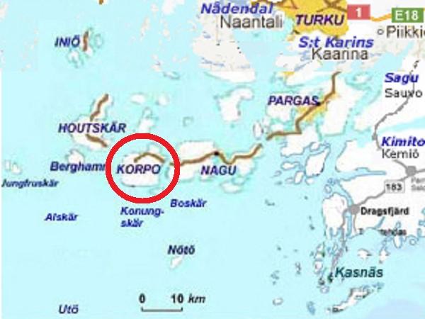 Map Korppoo