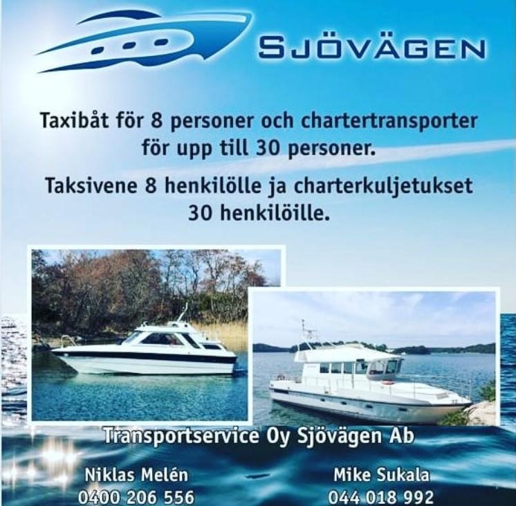 Meritaksi - Taksivene ja charterkuljetukset