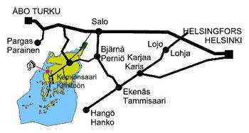 Kimito Meripesä vägkarta