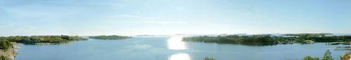 Kaunis näköala saaren Berghamn